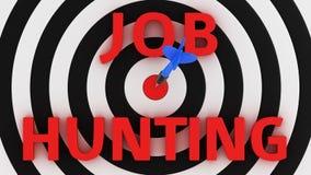 Job is aim Royalty Free Stock Photo