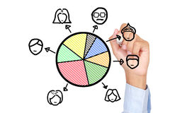 Job allocation concept Royalty Free Stock Images