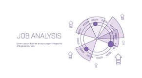Job Analysis Business Template Web Banner With Copy Space. Vector Illustration Stock Photo