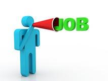 Job Announcement Foto de archivo libre de regalías