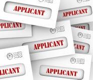 Job Applicant Envelopes Applying Job-Positie het Huren stock illustratie
