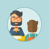 Job applicant having interview for the position. Royalty Free Stock Image