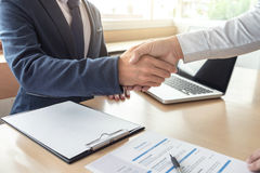 Job applicant having interview, Welcome to team Business people Royalty Free Stock Photography