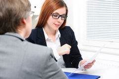 Job applicant having an interview Royalty Free Stock Image