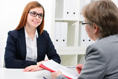 Job applicant having an interview Royalty Free Stock Images