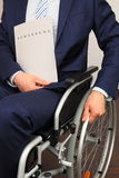 Job applicant in a wheelchair Royalty Free Stock Photos