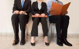 Job applicants sitting royalty free stock photo