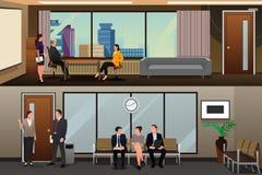 Job Applicants Waiting For Interview no escritório Imagens de Stock Royalty Free