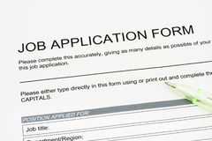 Job Application Stock Photography