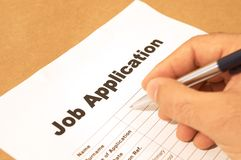 Job application Stock Photo