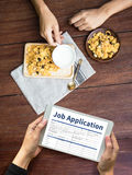 JOB Application Applicant Filling Up der on-line-Beruf Appl Stockfotos