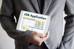 JOB Application Applicant Filling Up la profession en ligne APPL Image libre de droits