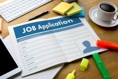 JOB Application Applicant Filling Up la profession en ligne APPL Photos stock