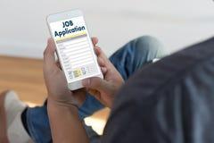 JOB Application Applicant Filling Up la professione online Appl Immagini Stock