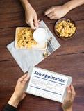 JOB Application Applicant Filling Up a profissão em linha Appl Fotos de Stock