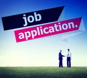 Job Application Applying Recruitment Occupation-Carrièreconcept stock foto