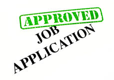 Job Application Approved Stock Photo