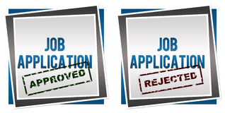 Job Application Approved Rejected. Illustration of Job Application with approved and rejected stamps stock illustration