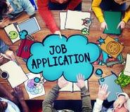 Job Application Career Hiring Employment Concept.  Stock Photos