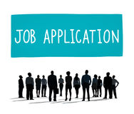 Job Application Career Hiring Employment-Konzept Lizenzfreies Stockfoto