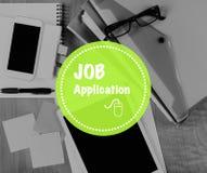 Job Application en línea Imagenes de archivo