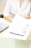 Job application form Royalty Free Stock Photo