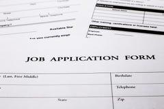 Job application form Stock Photos