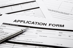 Job application form Royalty Free Stock Image