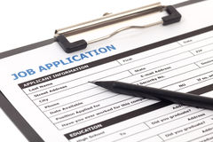 Job application form isolated Stock Images