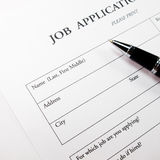 Job application form Stock Photos