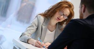 Job application interview royalty free stock photos