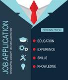 Job application personal profile. Royalty Free Stock Image