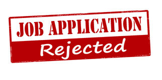 Job application rejected Royalty Free Stock Photos
