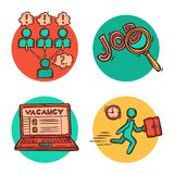 Job business concept icons composition Royalty Free Stock Images