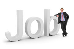 Job with business man Stock Images