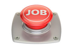 Job button, 3D rendering Royalty Free Stock Photo
