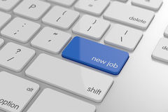 Job button. On keyboard with soft focus Royalty Free Stock Photo