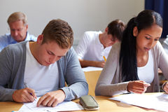 Job candicates in assessment center stock photo