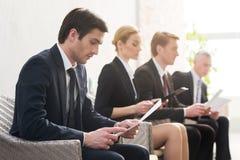 Job candidates. Royalty Free Stock Photo
