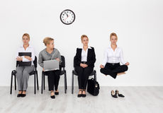 Job candidates with special skills concept. Employees with special skills wanted concept - job interview candidates waiting Royalty Free Stock Photography