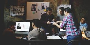 Job Career Casual Showing Concept lavorante Fotografia Stock Libera da Diritti