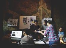 Job Career Casual Showing lavorante Fotografie Stock Libere da Diritti