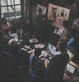 Job Career Casual Showing lavorante Fotografia Stock Libera da Diritti