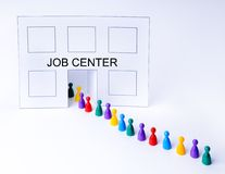 Job Center Fotografia Stock