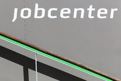 Job center sign o Royalty Free Stock Images