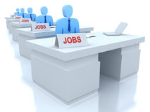 Job Centre : employers seeking for employees . 3D concept royalty free illustration