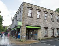 September 2017, a Job Centre at a Peak District Town royalty free stock photography