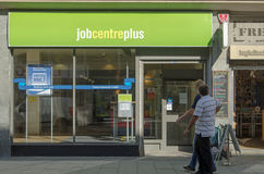 Job Centre Plus Weston-Toppen-sto Arkivbild