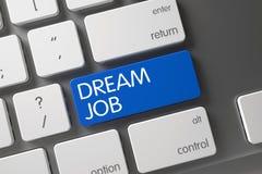 Job CloseUp rêveur de clavier 3d Image libre de droits