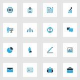 Job Colorful Icons Set Sammlung des Managers Stockfoto